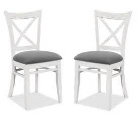 2 chaises gandhi bois blanc assise gris chaise topkoo