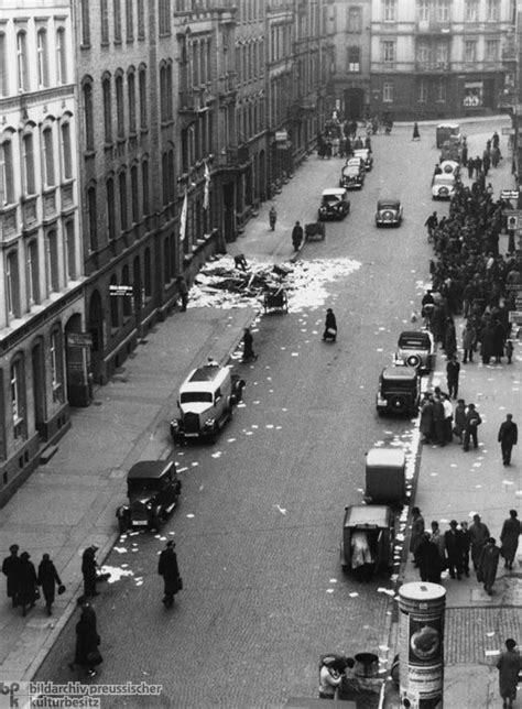 The Morning after the Night of Broken Glass [Kristallnacht
