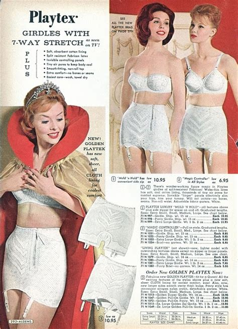 vintage bra commercials playtex girdle ad from the 50ies vintage girdles