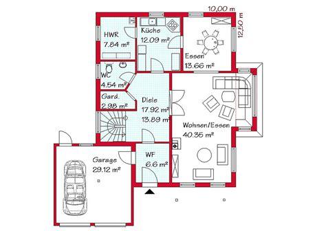 Haus Mit Integrierter Garage Grundriss by Einfamilienhaus Mit Integrierter Doppelgarage Grundriss