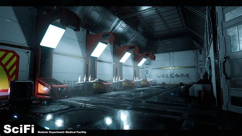 room experiment modular scifi experiment facility by loh in environments ue4 marketplace