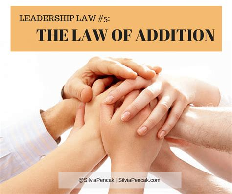 sections of the law the law of addition second mile principle