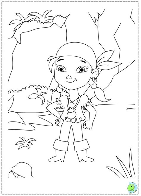 Jake And The Neverland Pirates Drawing Az Coloring Pages And The Tr Coloring Page