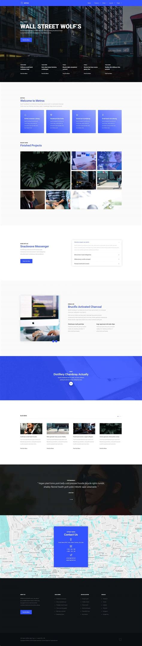 business template joomla metros joomla business template