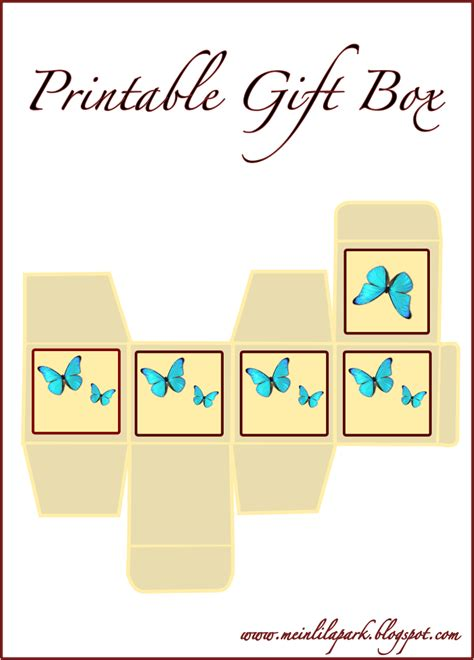butterfly box template free printable gift box blue butterfly ausdruckbare box