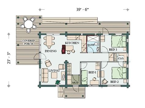 large cabin floor plans building drawings hatchings images