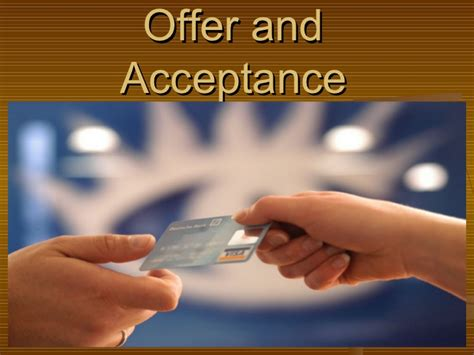 offer and acceptance 3