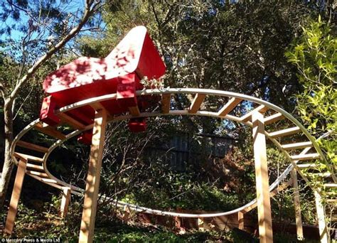 backyard roller coaster kit father builds a roller coaster for his son in the back yard