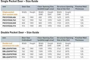Single Garage Dimensions Pocket Door System Internal From J B Kind