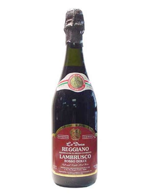duca docce lo duca reggiano lo duca reggiano lambrusco rosso dolce