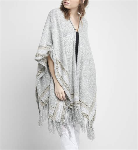 Cardigan Plus Inner Melly Melly Tribal Print Sweater Silver
