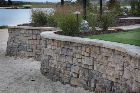 decorative concrete block retaining wall retaining walls project type watkins concrete block