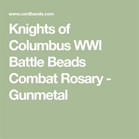 knights  columbus wwi battle beads rosary  gunmetal