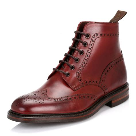 what are the best mens boots loake mens burgundy burford dainite calf leather brogue boots