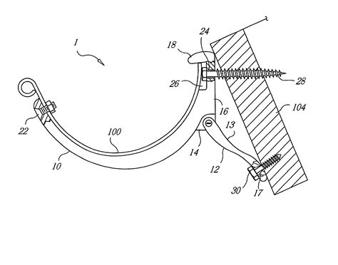 arm gutter brackets patent us20020125377 adjustable gutter bracket