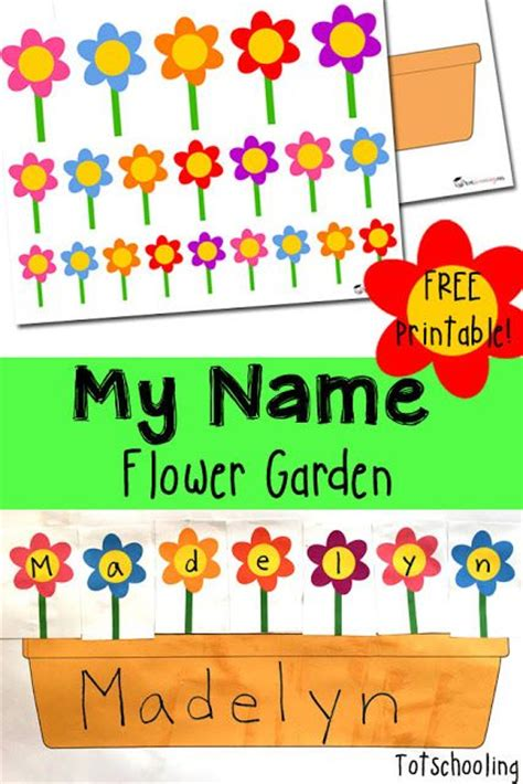 printable pictures of flowers with names name recognition flower garden gardens flower planters