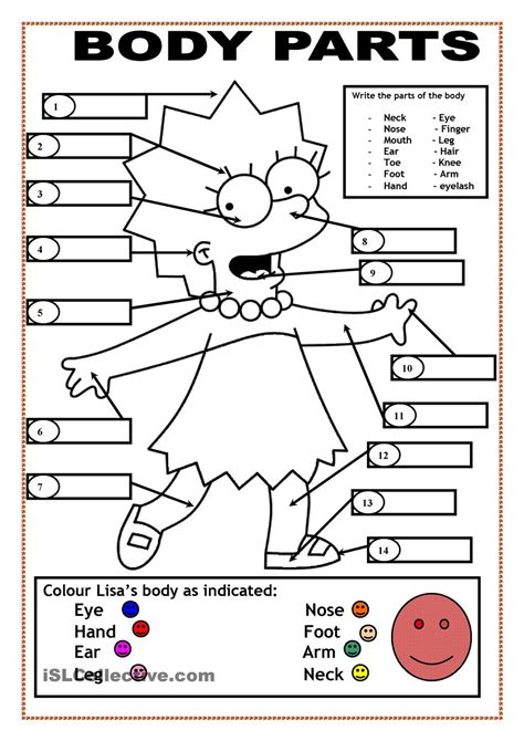 Body Parts Coloring Pages Coloring Home Parts Coloring Pages