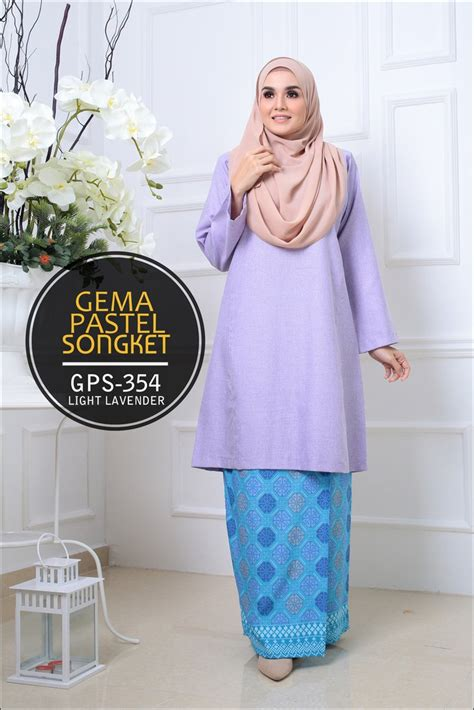 Baju Kurung Moden Warna Pastel baju kurung pahang gema pastel songket gps saeeda collections