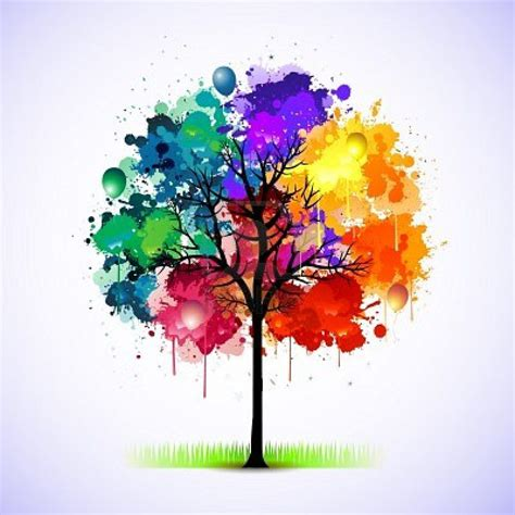 tree colors paint splat tree manchas de colores seres