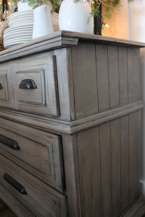 driftwood gray paint stain color easy and complete tutorial on the dresser is a