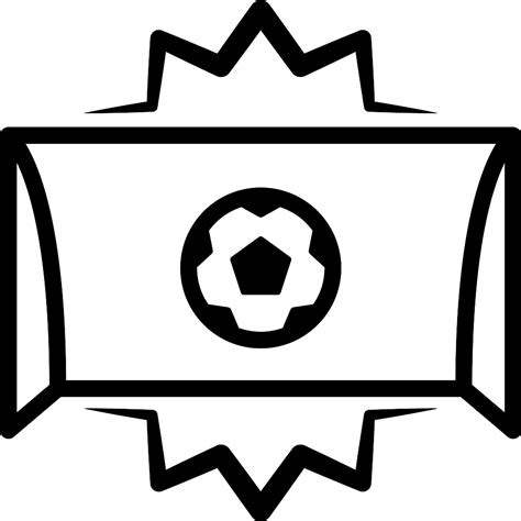 Soccer goal ball entrance centered in arch - Free sports icons