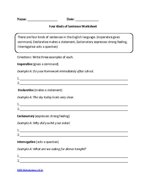 8th Grade Grammar Worksheets by 8th Grade Common Language Worksheets