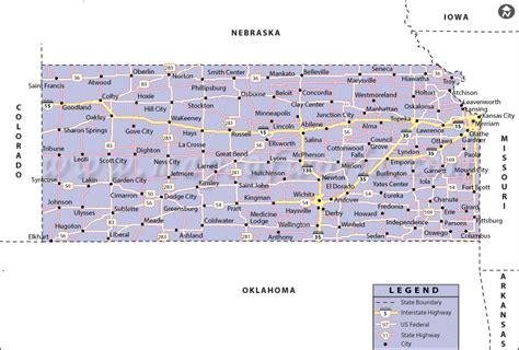 map of kansas map of kansas state map of usa