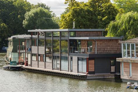 maa architects design houseboat londons river thames