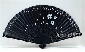 japanese folding fan silk japanese fan folding fan by haveitfancyworld