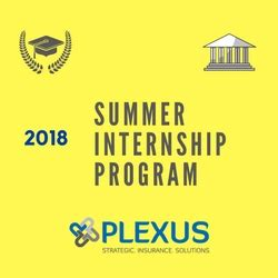 Top Mba Summer Internships 2018 by Plexus Introduces 2018 Summer Internship Program Pr