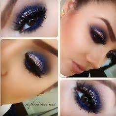 what colors make up blue eye makeup blue dress