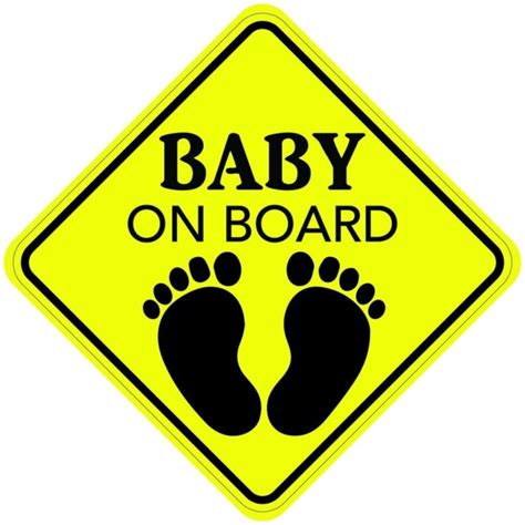 Baby On Board Sticker baby on board sign sticker decal car buy 2 get 3rd made in