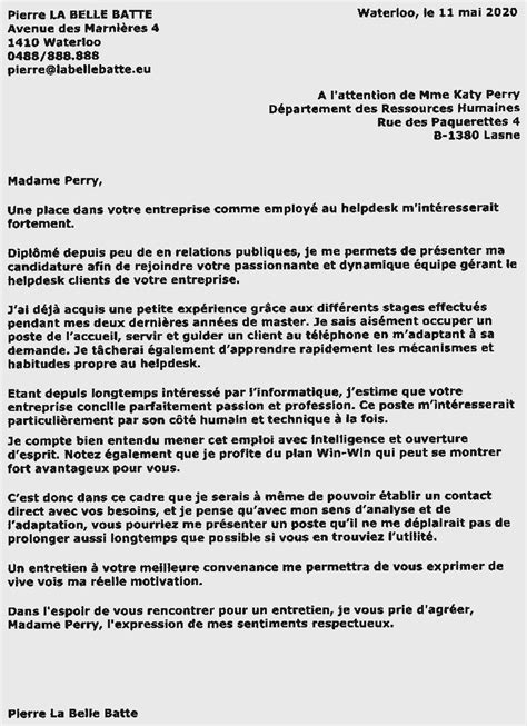 Exemple Lettre De Motivation Assistant Français à L étranger Lettre De Motivation Employment Application