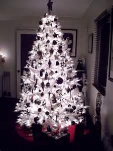 night time black white christmas tree ideas pinterest