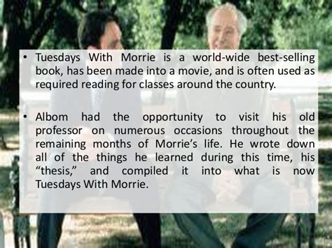 tuesdays with morrie thesis tuesdays with morrie thesis