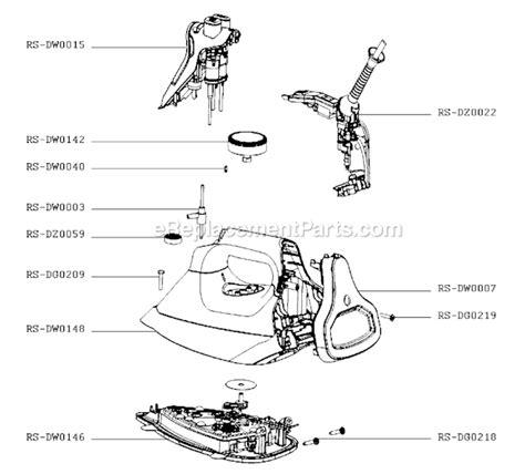rowenta iron parts diagram rowenta dw8080u1 parts list and diagram a