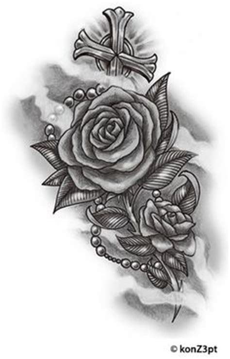 design upon meaning cross with roses tattoo tatoos