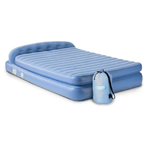 inflatable beds aerobed 19813 comfort hi rise premium queen inflatable