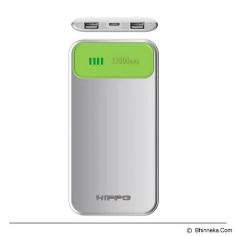 Hippo Power Bank Titan 2 12000mah Value Pack jual hippo power bank atlas value pack 12000mah green white murah bhinneka