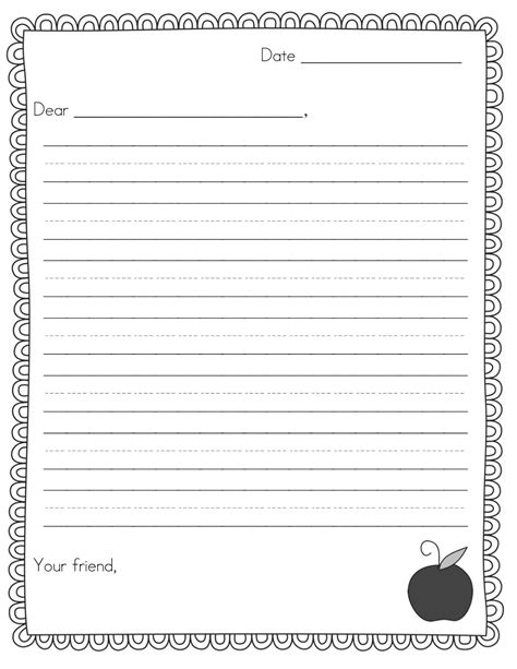 letter writing template for grade free letter templates madinbelgrade