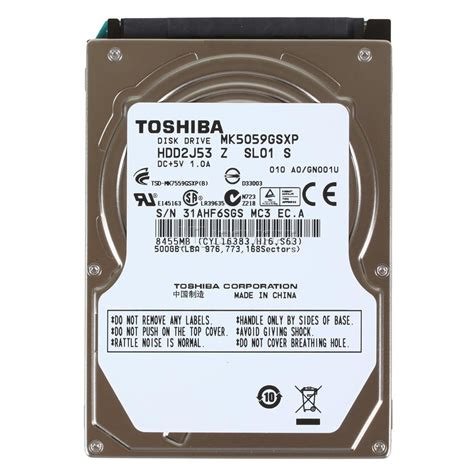 Hdd Toshiba 2 5 500gb disco duro para laptop 500gb toshiba 2 5 quot intelcoms de