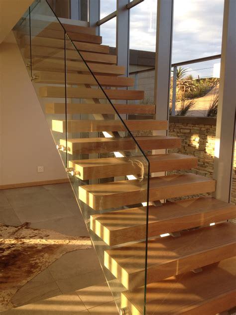 Open Staircase Ideas Open Stair With Timber Treads And Steel Structure Beneath Glass Balustrade Stair Designs
