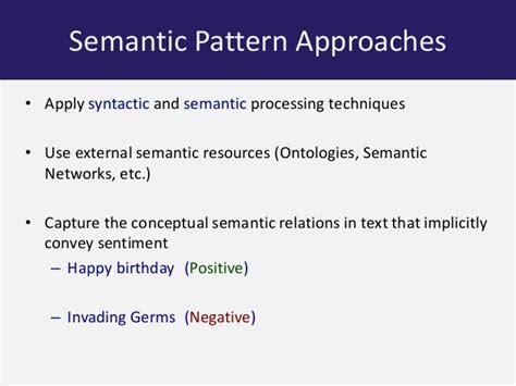 pattern sentiment analysis subjectivity semantic patterns for sentiment analysis of twitter