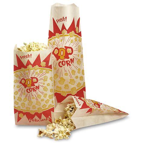 Popcorn In Paper Bag - economy popcorn bags