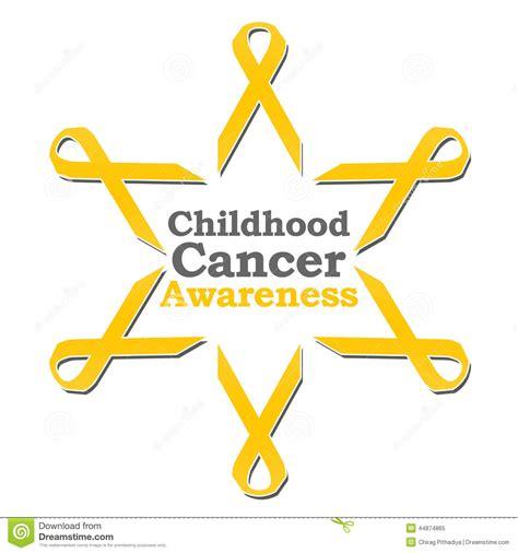 childhood cancer awareness color childhood cancer awareness ribbon circle stock
