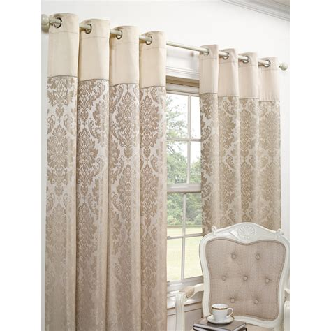 next jacquard curtains b m elizabeth jacquard fully lined curtain 66 x 54