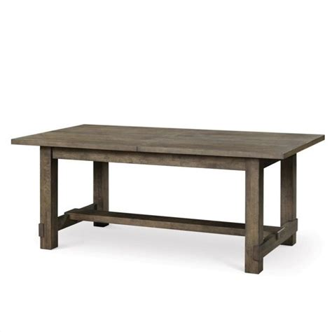 magnussen karlin wood rectangular dining table in grey