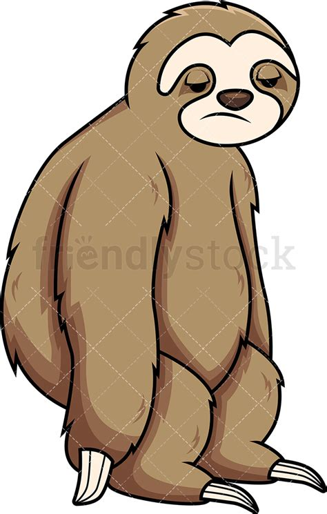sloth clipart apathetic sloth vector clipart friendlystock