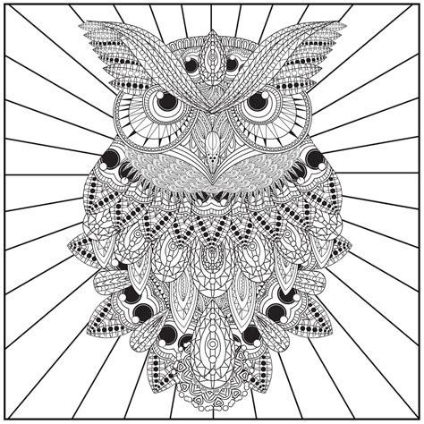 owl mandala coloring pages for adults owl coloring pages coloringsuite
