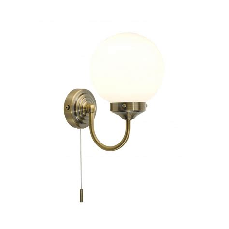 Bathroom Light Pull Cord Barclay Traditional Antique Brass Bathroom Wall Light Ip44 Wall Light